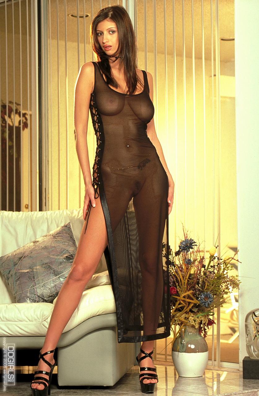 Black dress nude video