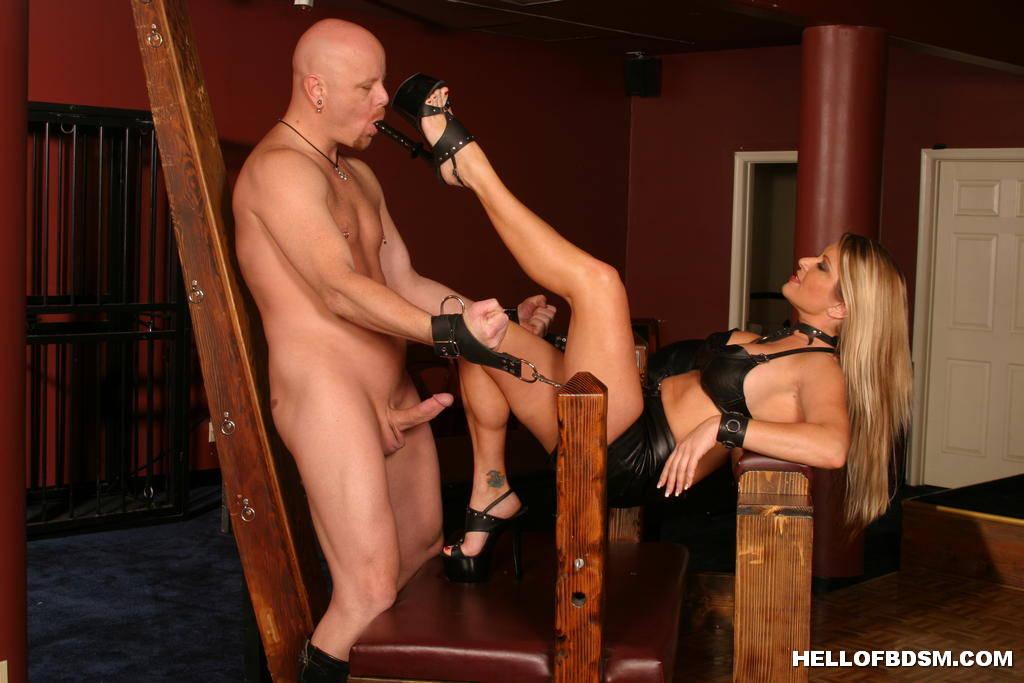 Woman have man slave sucking ass