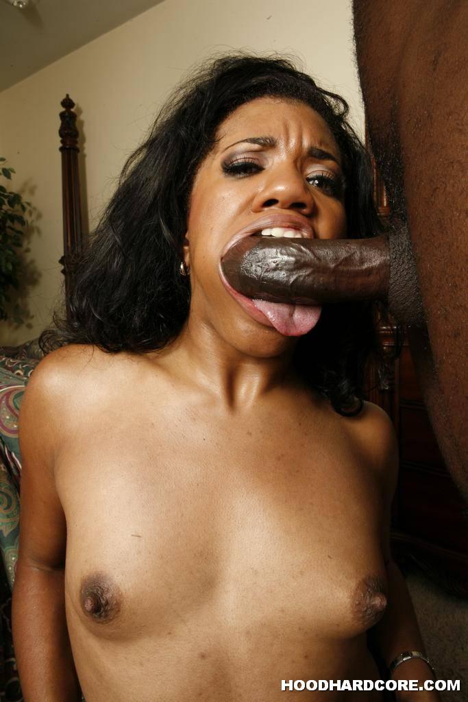 Black Hottie Stacey Cash Blows Big White Dick Through