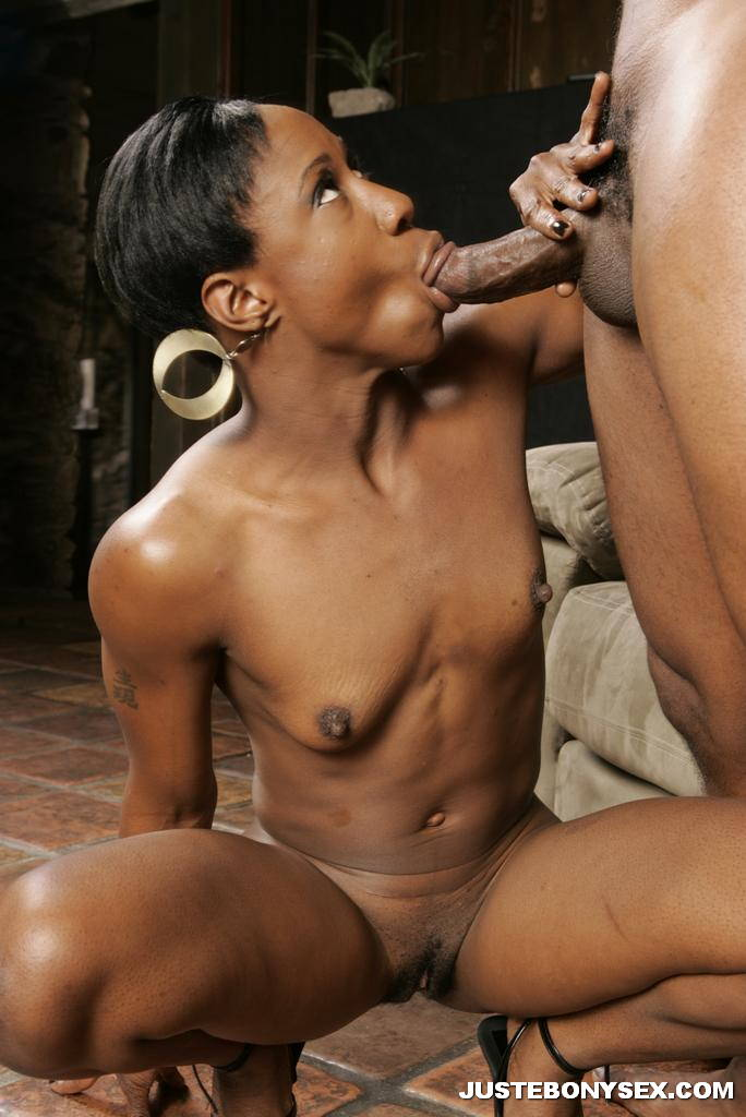 image Thin girl gives her guy a bj and takes facial