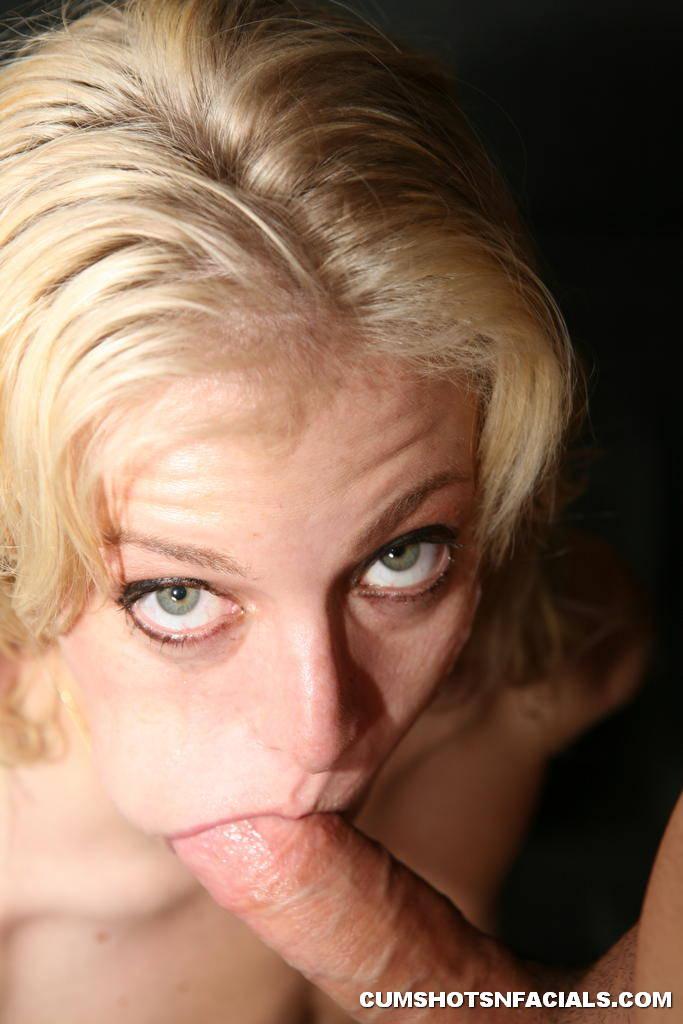 Angela stone slurping cum from a bowl