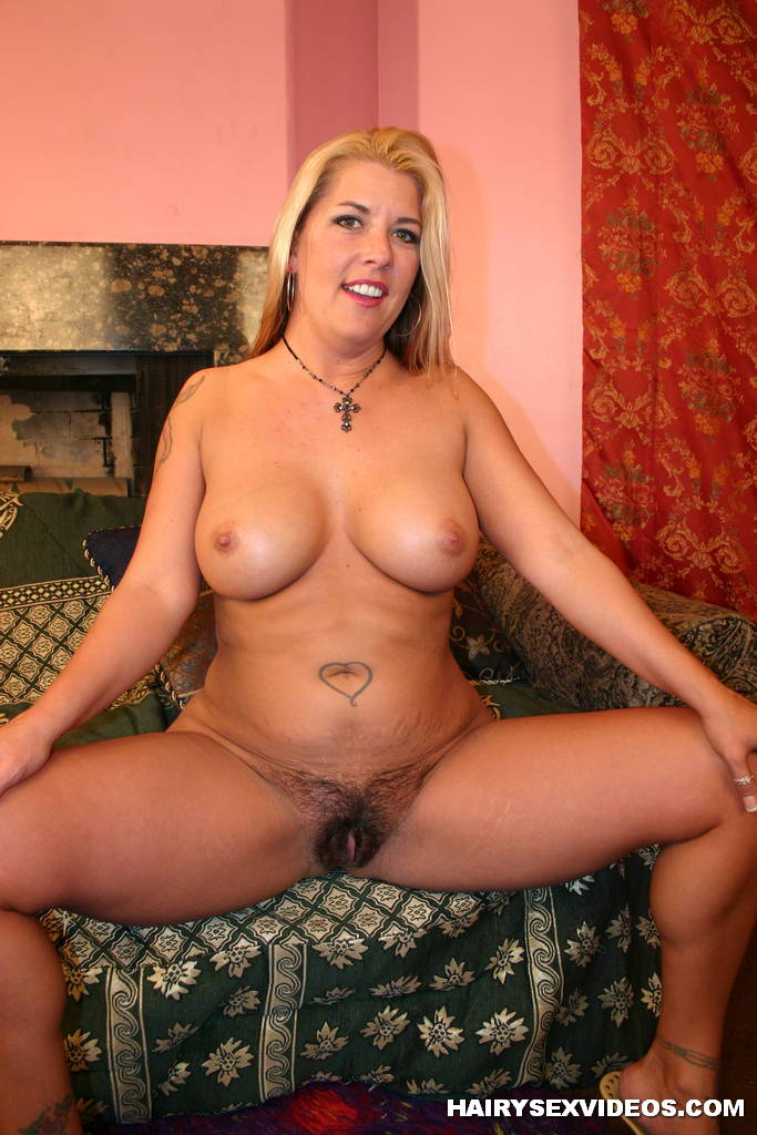 Chubby hairy girl works out 4