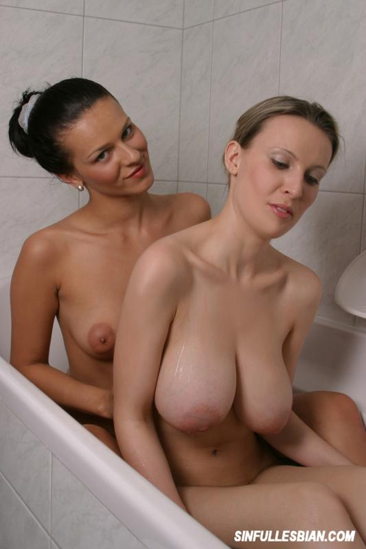 Busty Lesbians Having Fun At The Shower 2304-6208