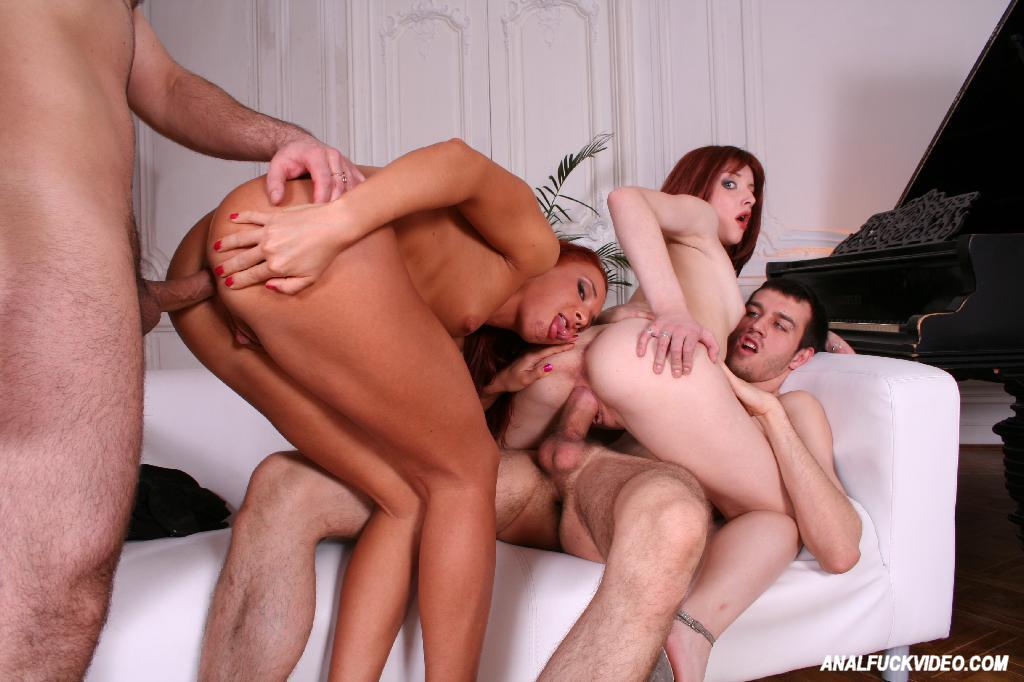 Orgy ass to mouth
