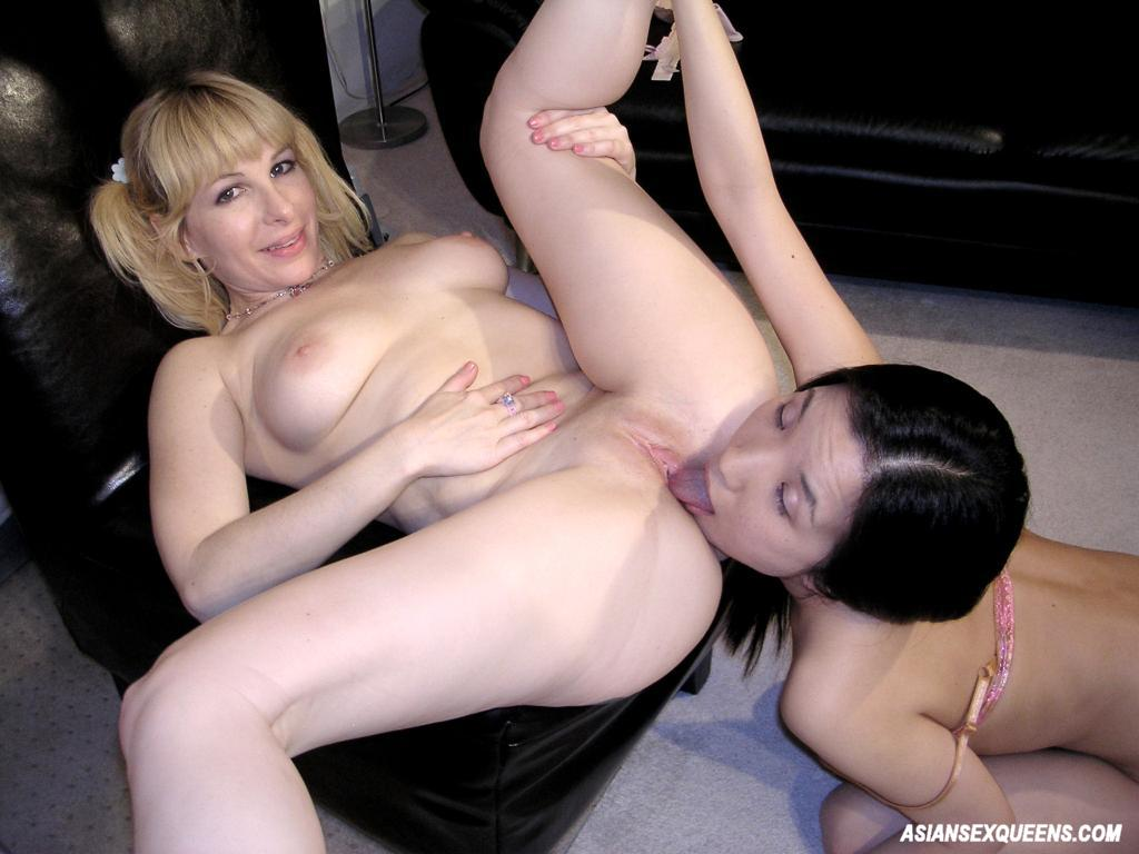 Two horny girls share one cock 2