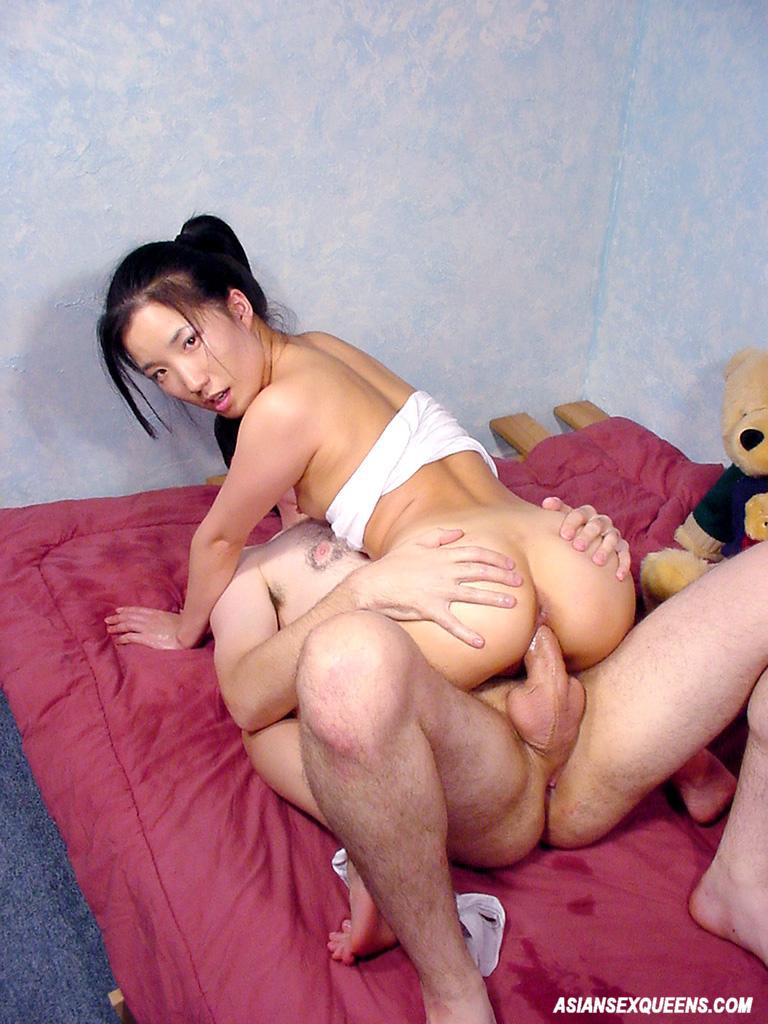 Asian fucked by white