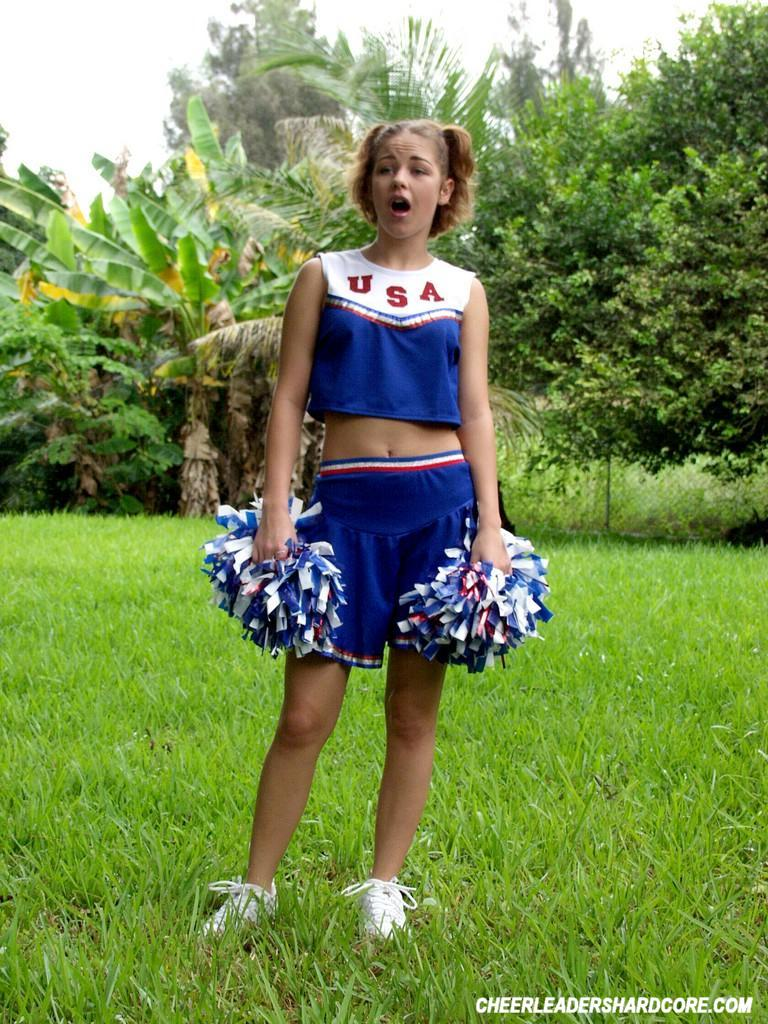 Cheerleaders outdoor wet bdsm