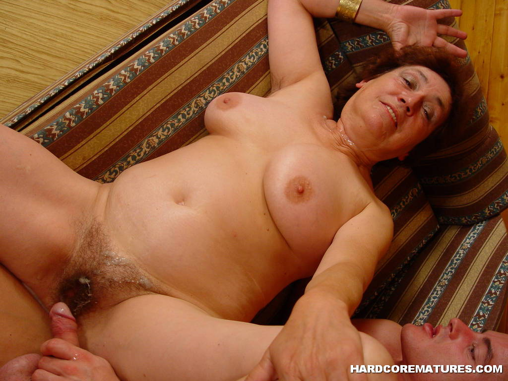 image Cum on hairy 2 month pregnant pussy