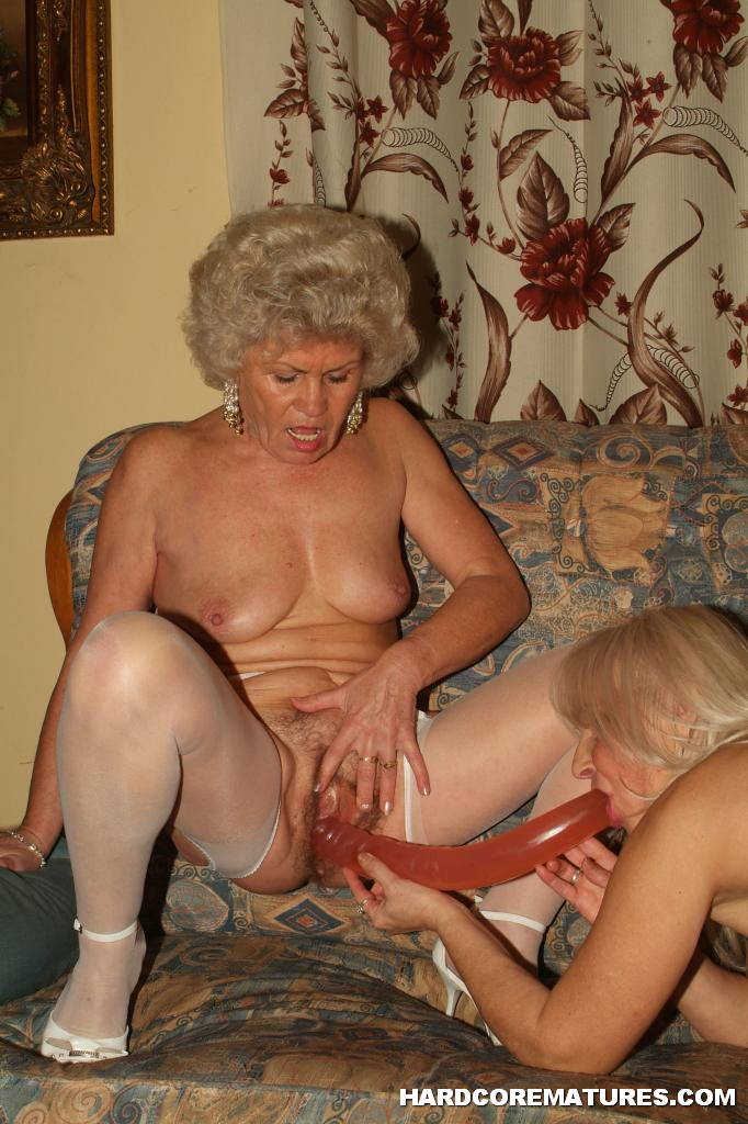 Lesbian Grannies Using Dildo 2696-8051