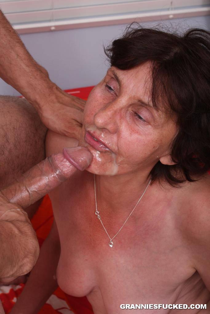 grandmother sucks young cock