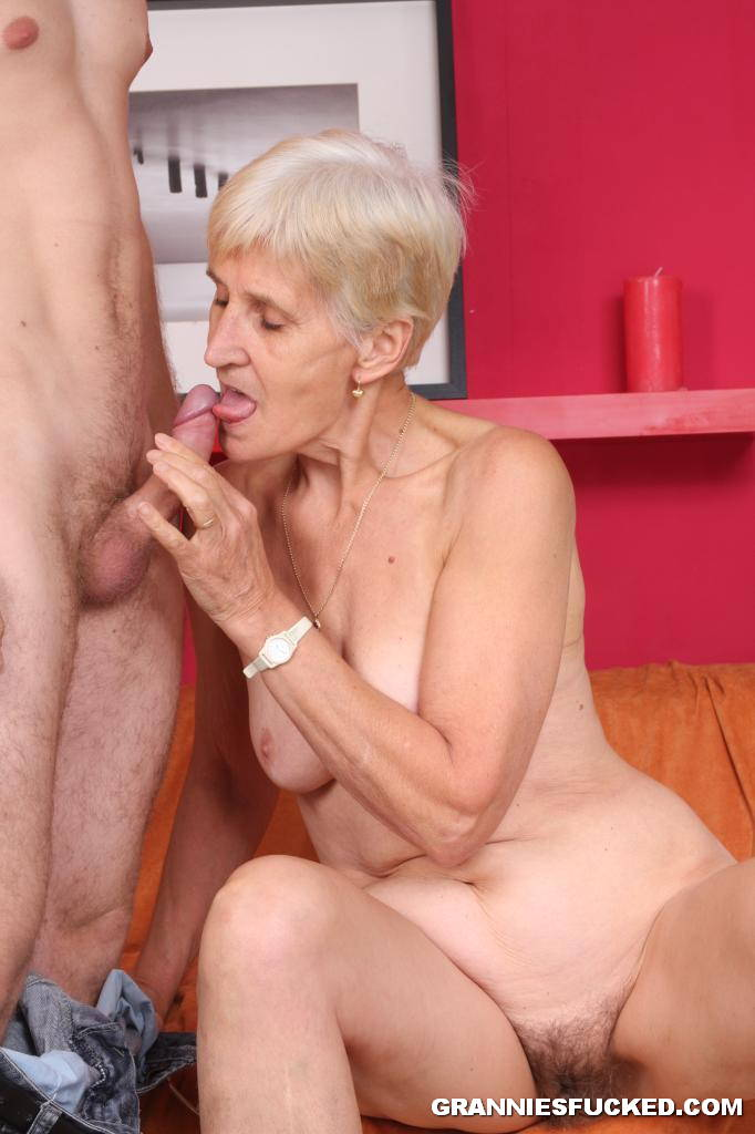 Grandma riding dick