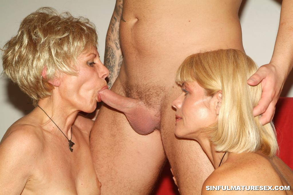 Grannies sucking dick party anal