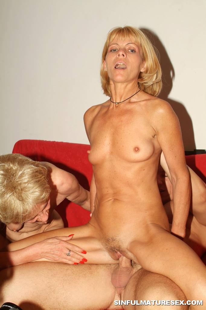Blonde Grannies Sucking Hard Into Threesome 2719-1895