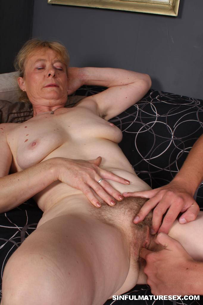 image Grannies making men cum by jerking and