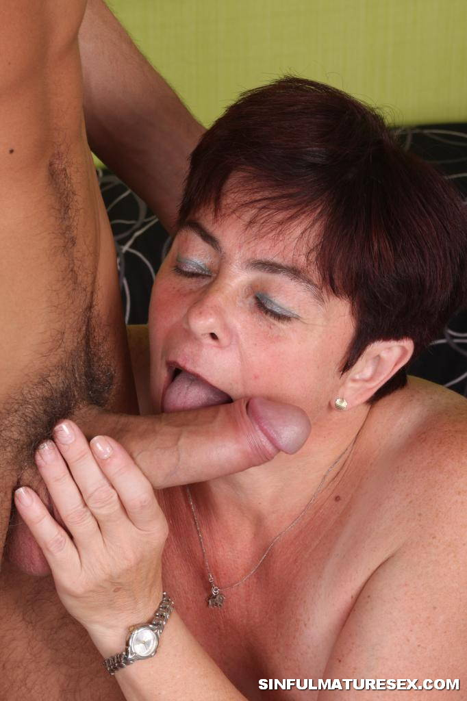 Grandmother sucks young cock very pity
