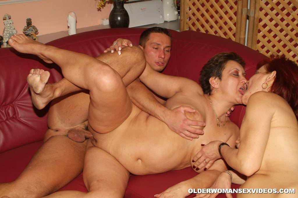 Granny lesbian threesome thought