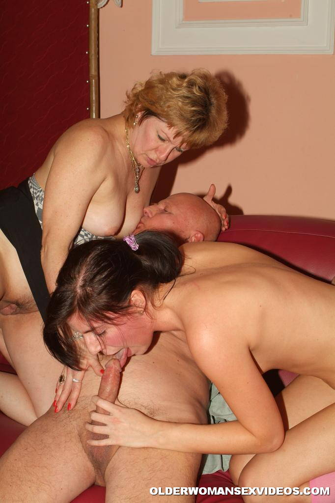 Naughty Mom And Daughter Into Threesome