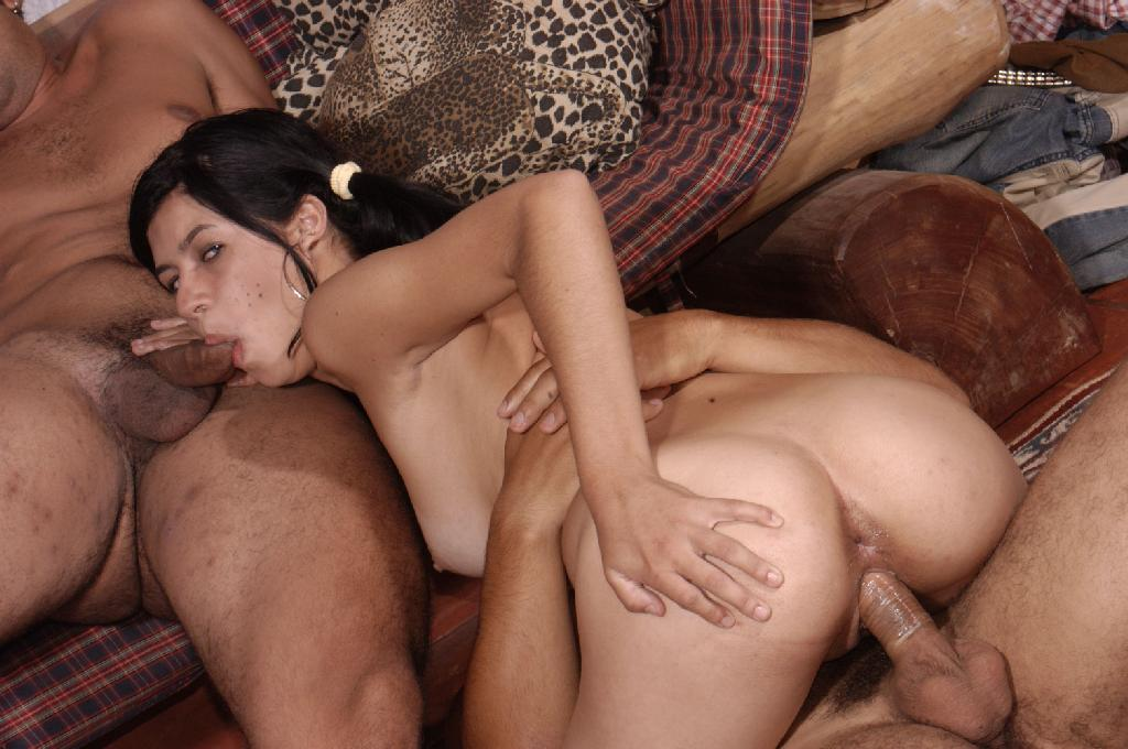Young latina threesome tubes are