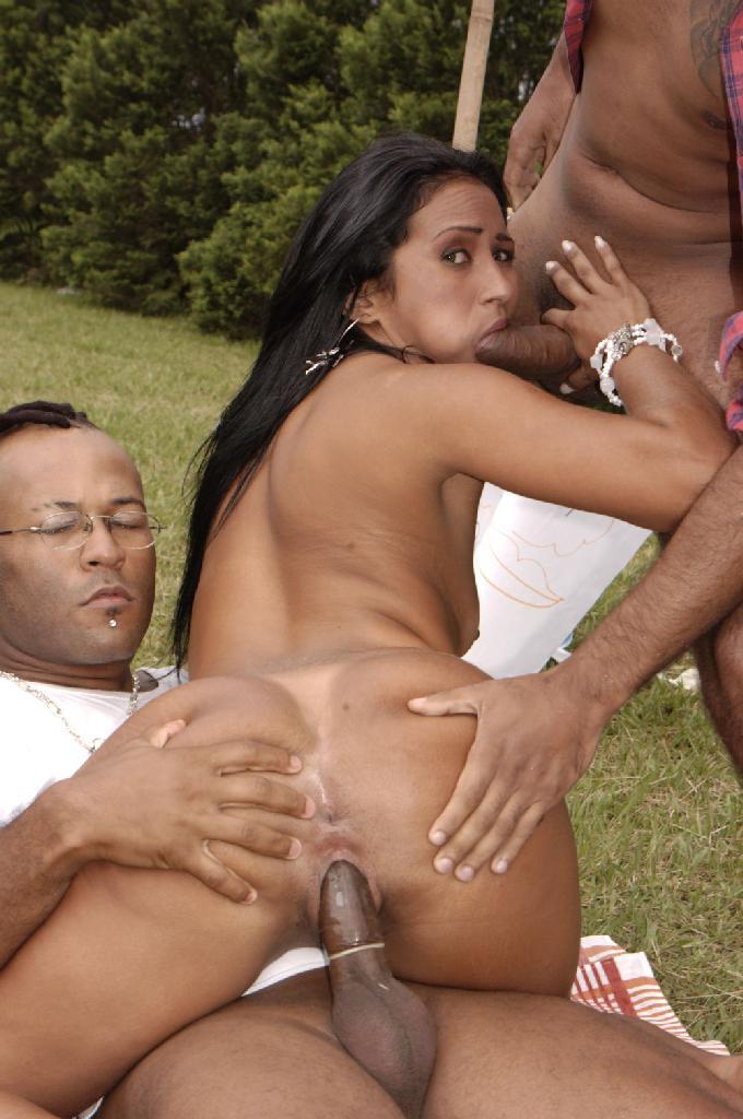 Latina Takes Big Black Cock