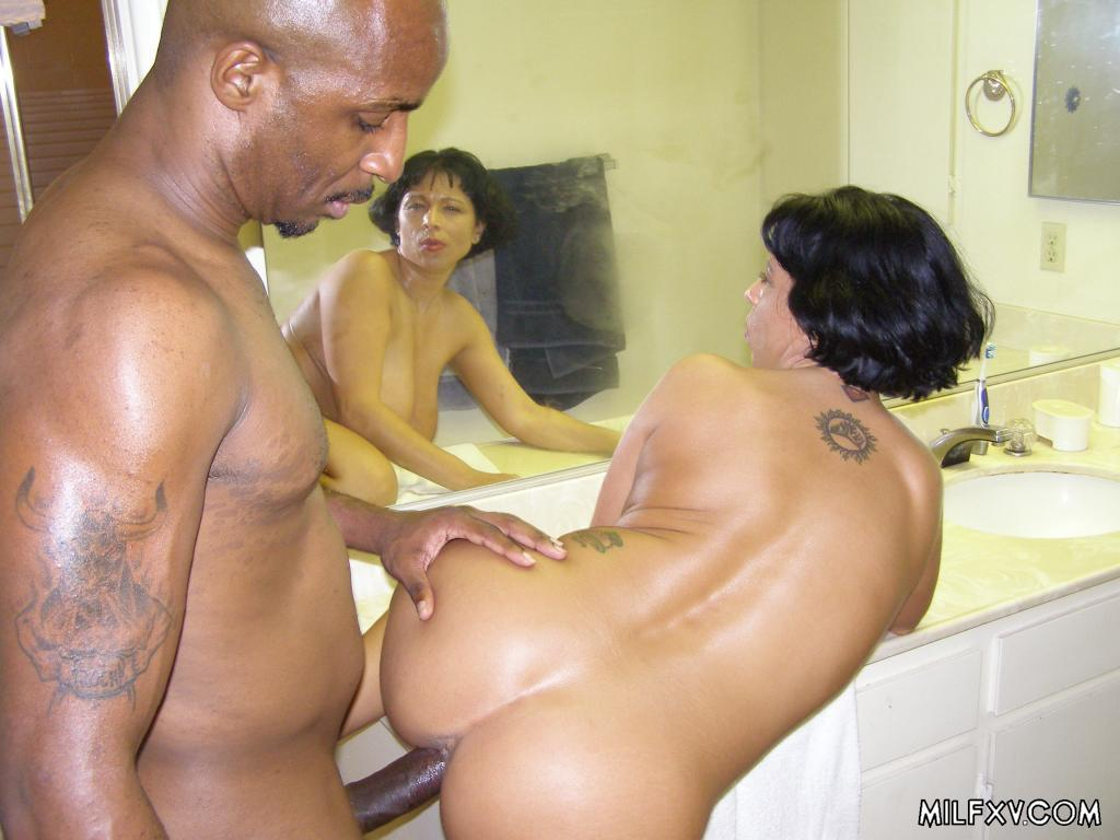Brunette MILF Shared By Three Black Studs - Exiporncom