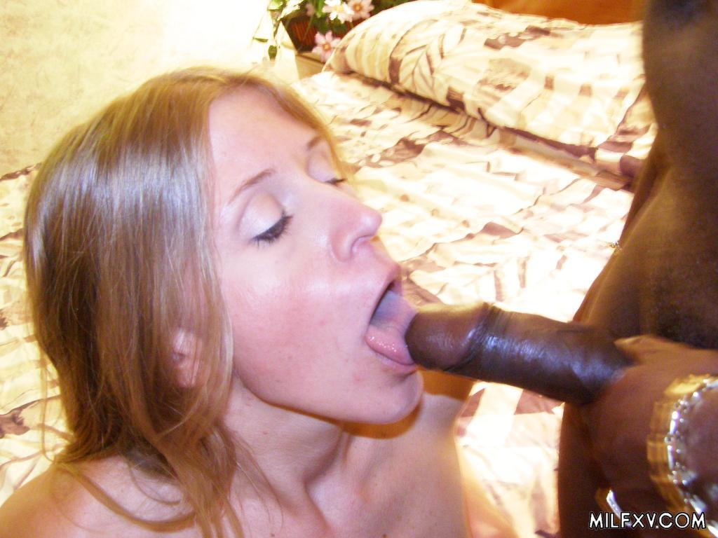 image German milf blowjob until she watches the