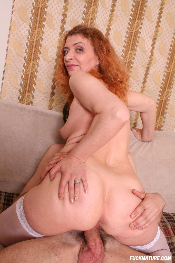 image Curly ginger fucked in big ass after massage