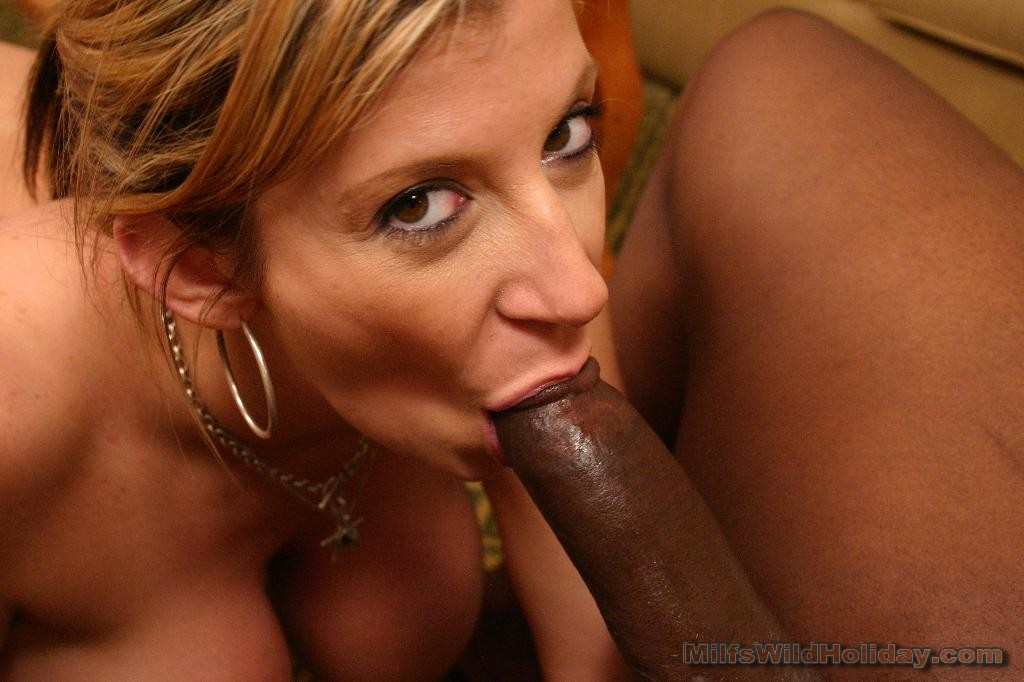 Black milf sucking white cock please