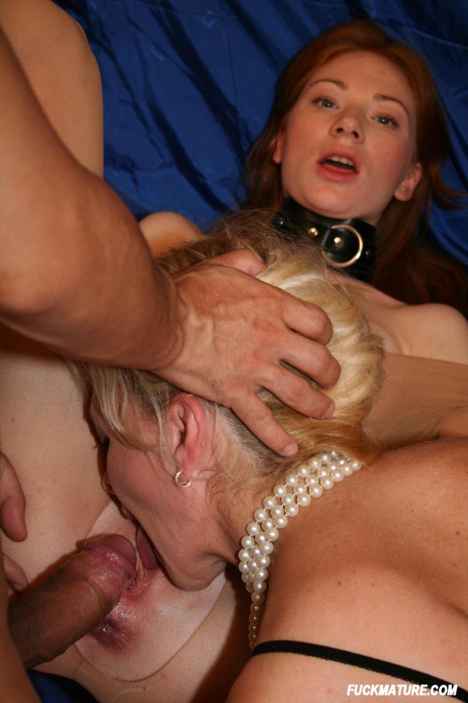 Three milfs sharing one cock