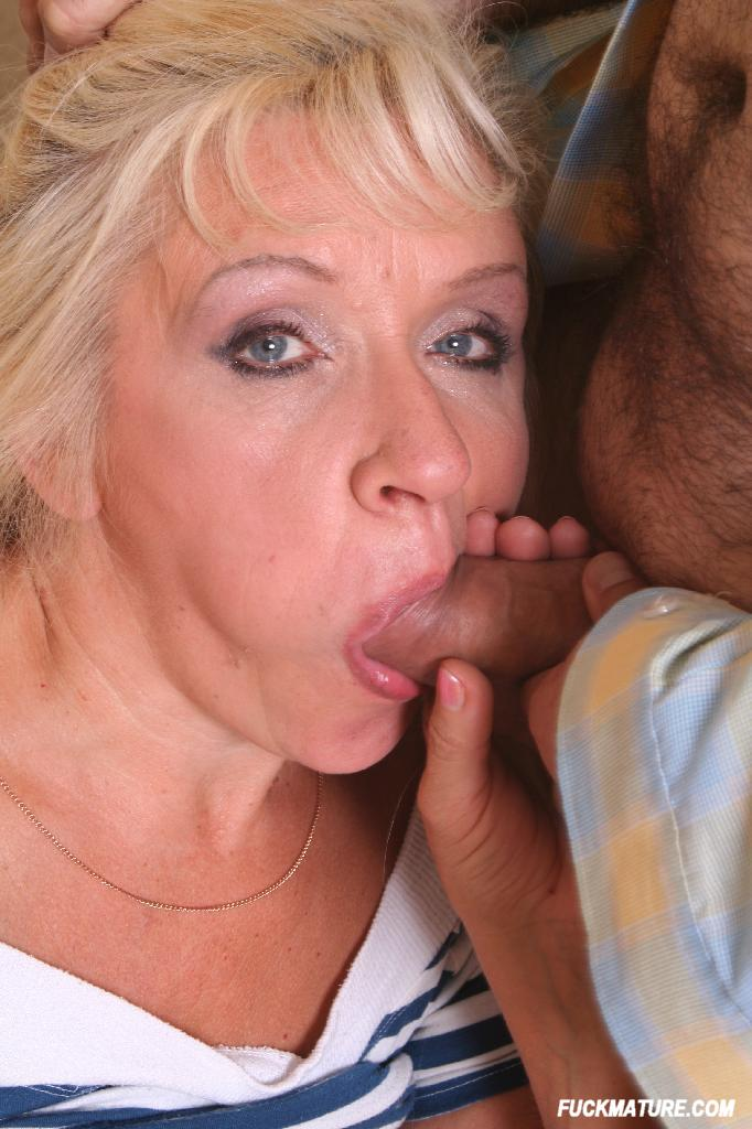 Mature grannies eating cum
