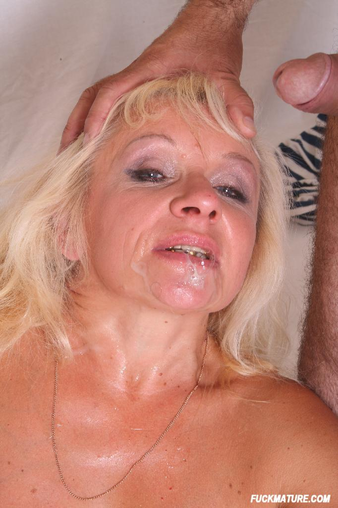 Busty blonde whore goes crazy getting 3
