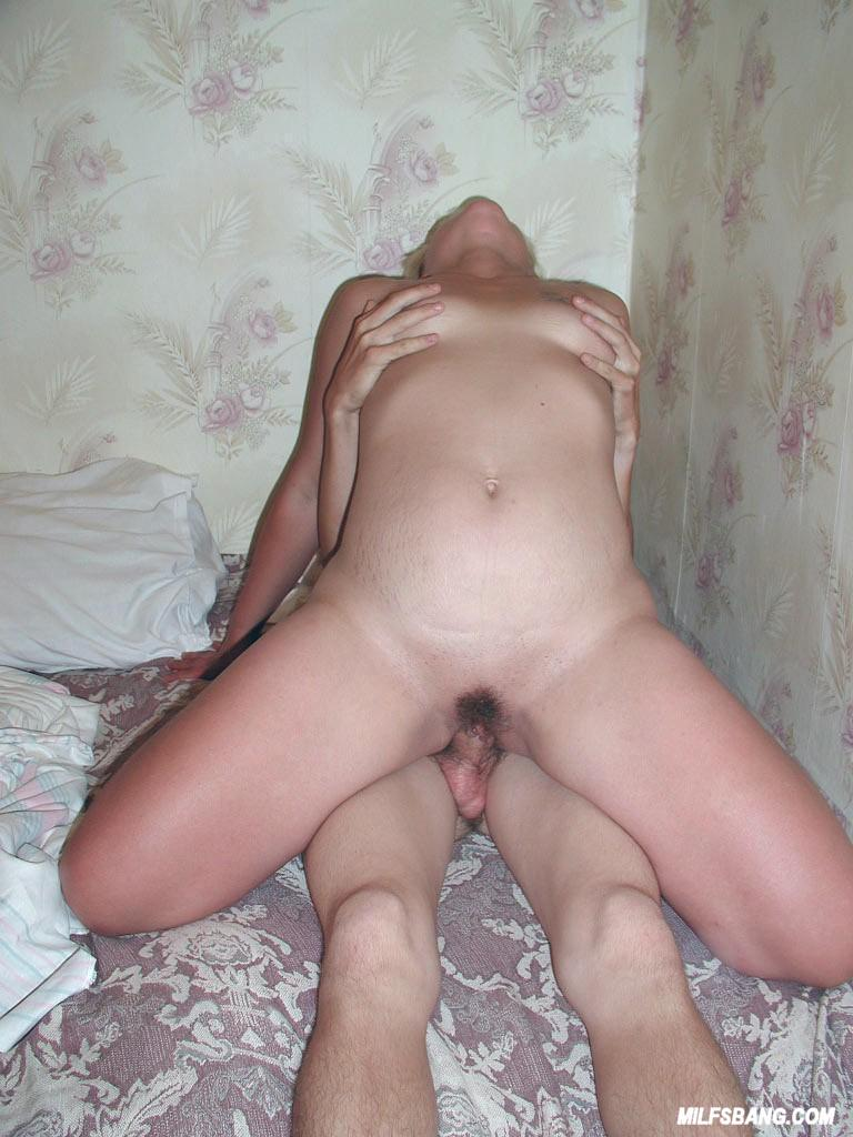 Milf sucks sons big dick