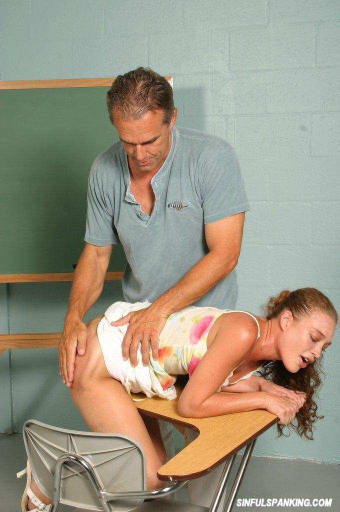 young girl spanked in class page