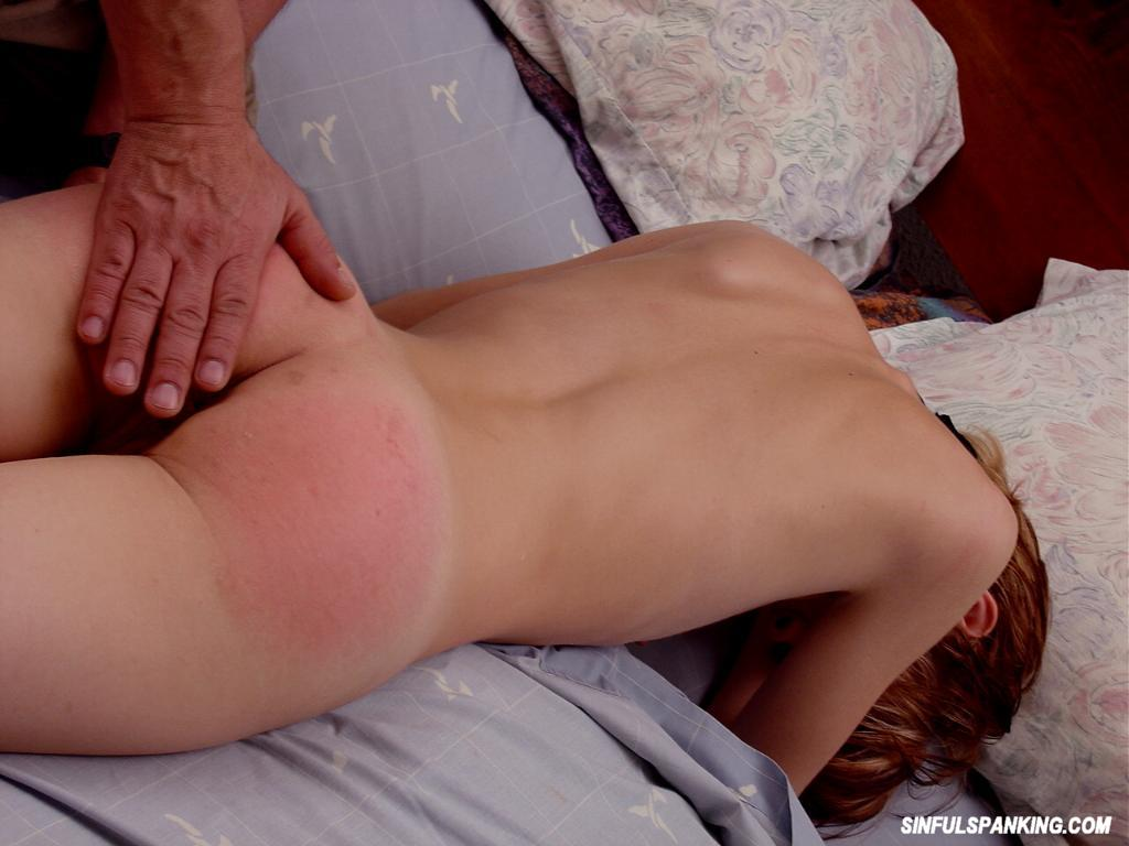 Spanked on the butt right!