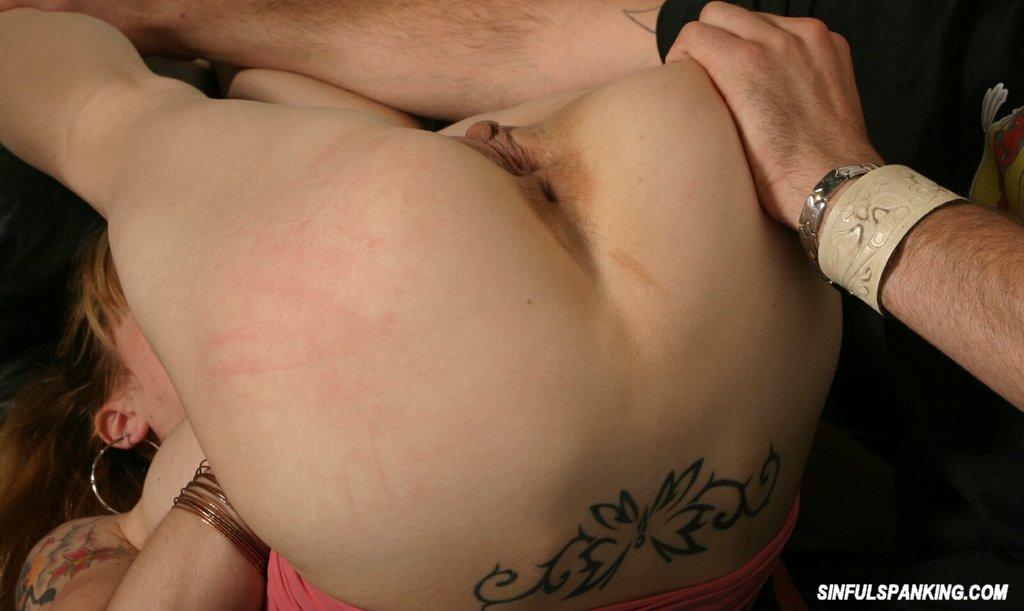 Slut gets spanked