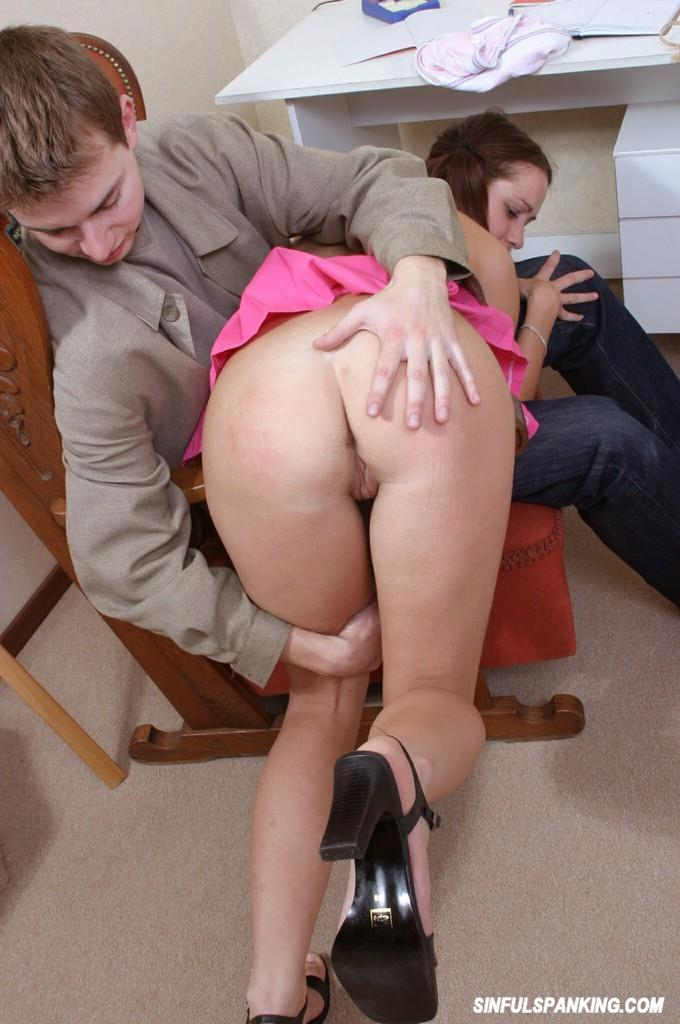 Women Spanking Guy On Butt