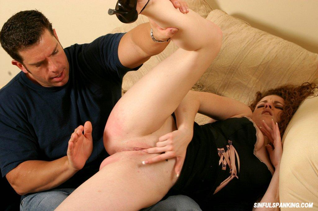 he spanked her hard