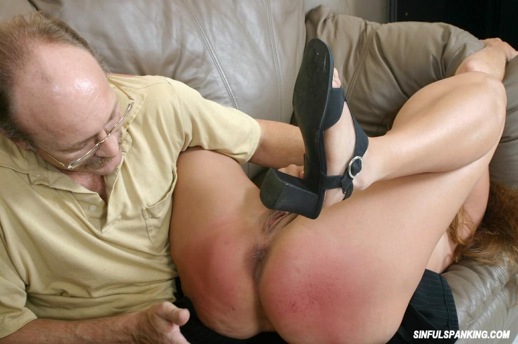 image Brunette is spanked while taking it up the ass