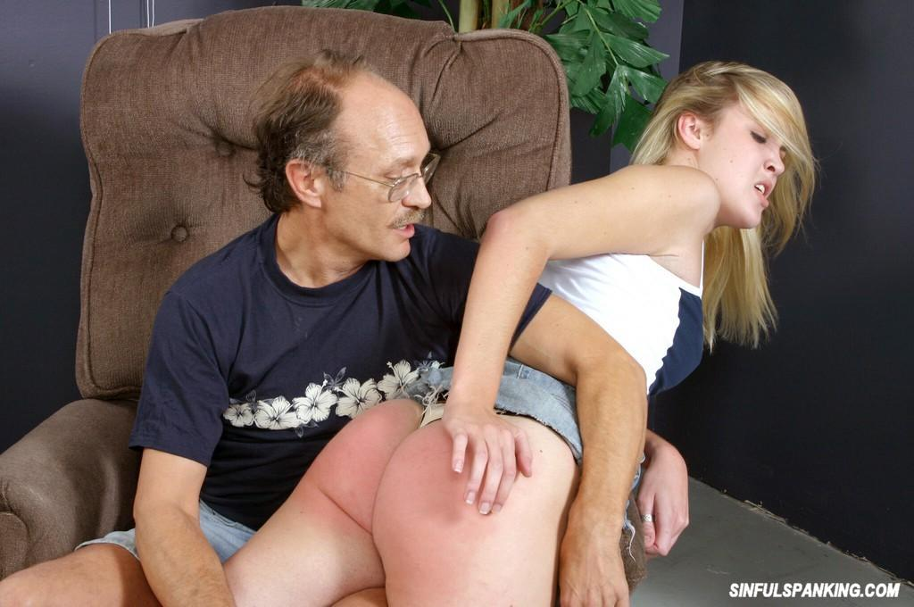 Old man spank video clips