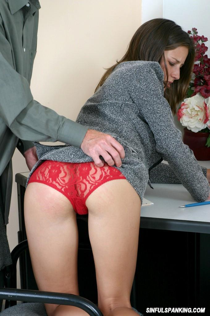 Fabulous boss secretary spank