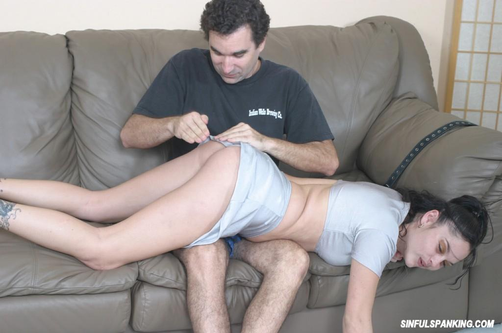 Pussy spanked and fingered