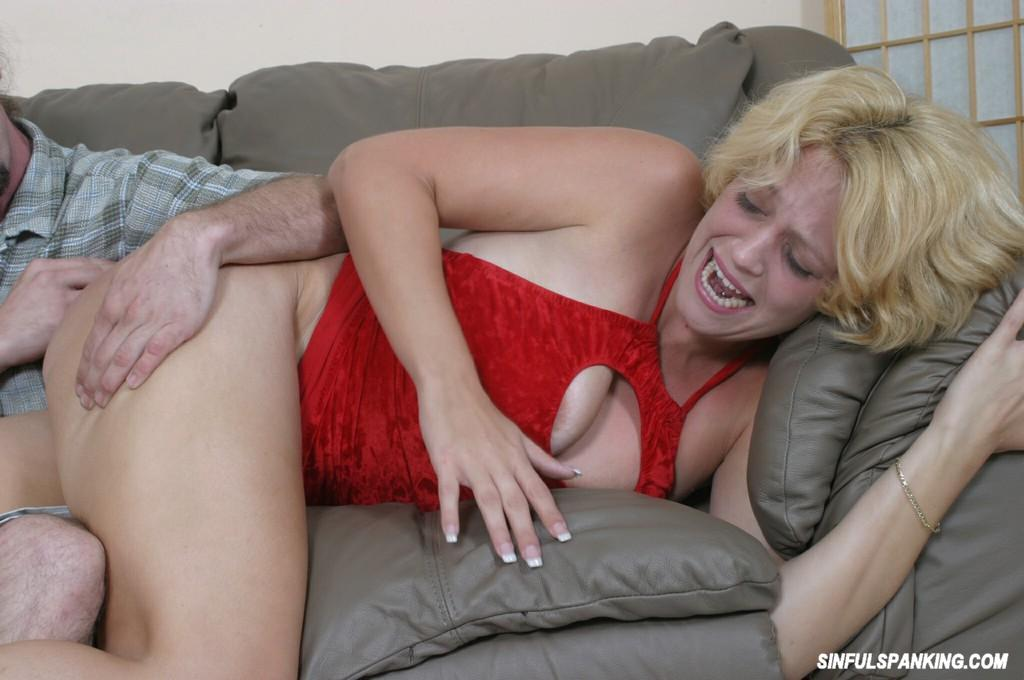 Wife Spanks Me In Front Of Her Mother -