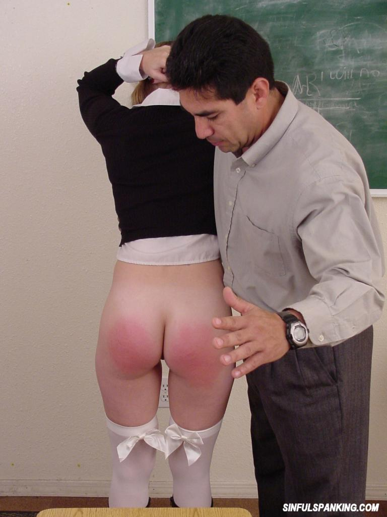 Stockings Mature Schoolgirl Gets Spanking 3028-8692