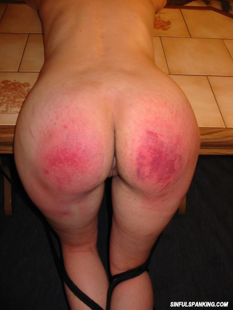 Hard spanked ass