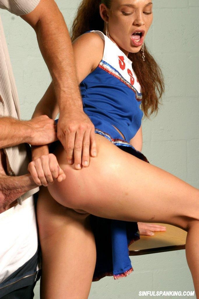 Cheerleader spanking videos
