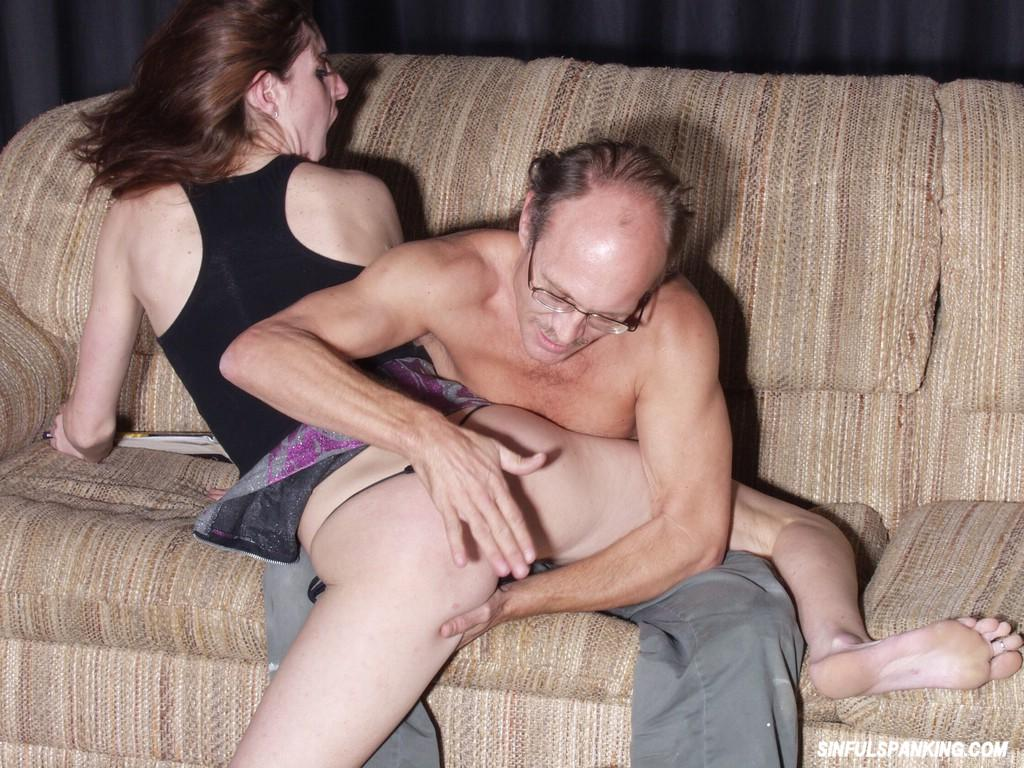 young man spanked