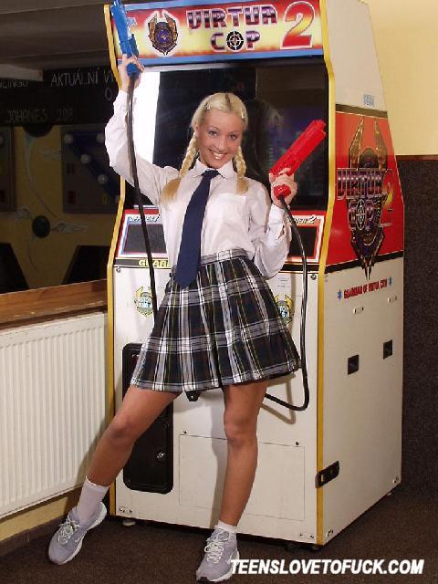 Horny Schoolgirl Undressing 3141-8505