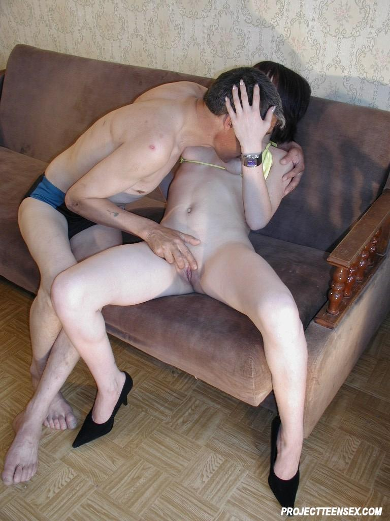Brunette licked and fucked by her pervert bf 5