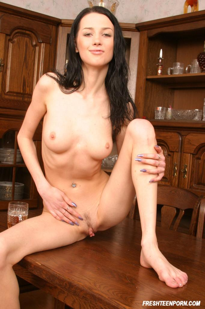 Hot skinny brunette nude all