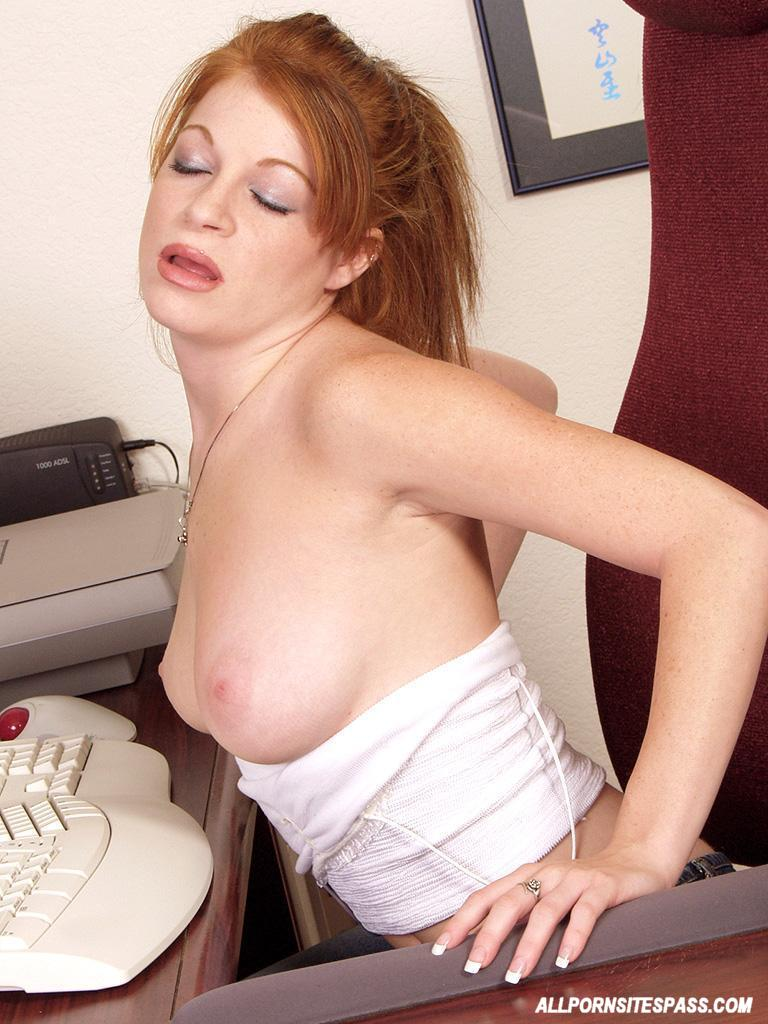 redhead from the office