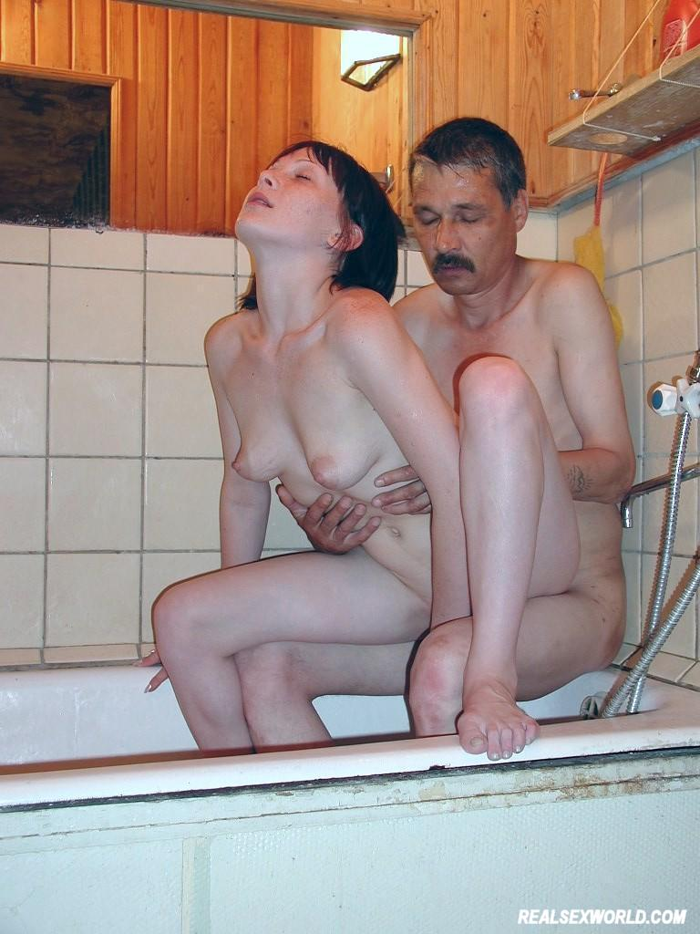 Couple sex in the shower